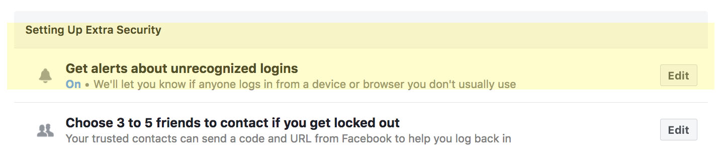 Get Alerts About Unrecongized Logins
